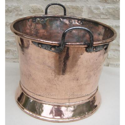 Rafraîchissoir en cuivre. XVIIIe s.