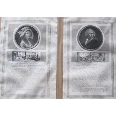 Charlotte CORDAY et Jean-Paul MARAT. XVIIIe-XIXe s.