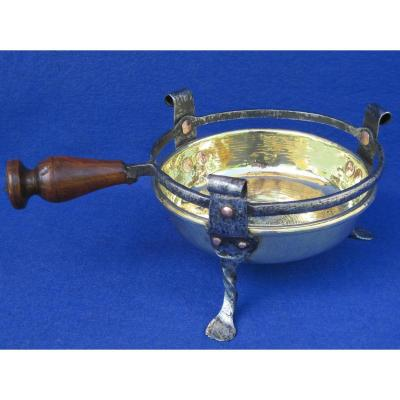 Réchaud de table, à braise, en laiton. XVIIIe s.
