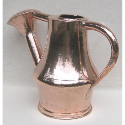 Copper Watering Can. Height 38 Cm. Eighteenth Century
