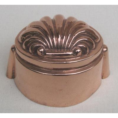 Moule à gâteau,  en cuivre. XIXe s.