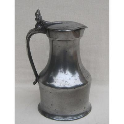Pitcher In Tin. Caen And Its Region. Late Eighteenth-early Nineteenth Century.