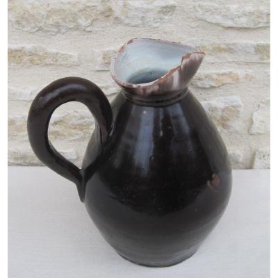 Pottery. Cider Pitcher. Bonnetable. 19th Century.