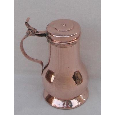Petit Coquemar en cuivre. XVIIIe s.
