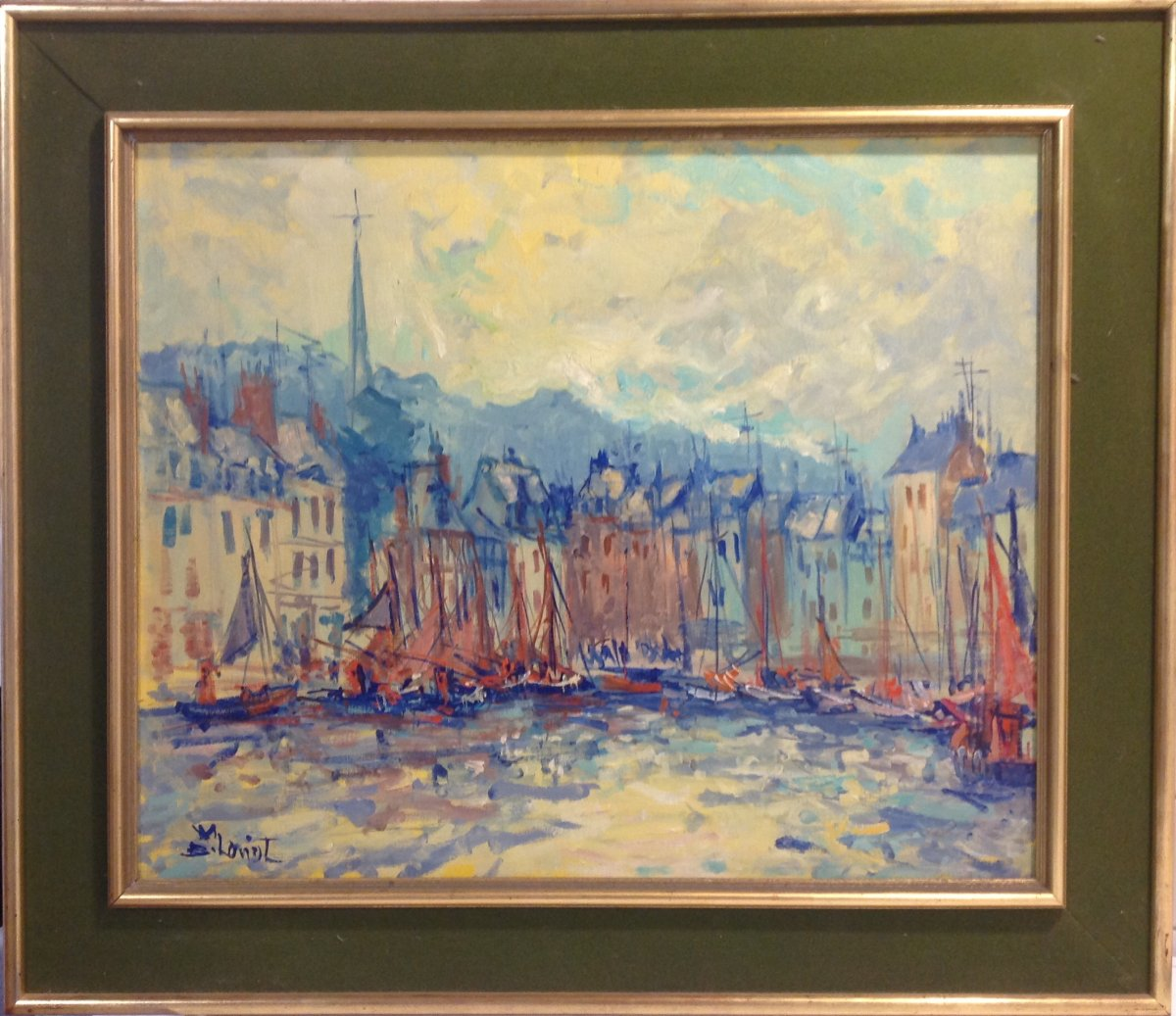 Tableau Signé Bernard Loriot Vieux Bassin , Honfleur