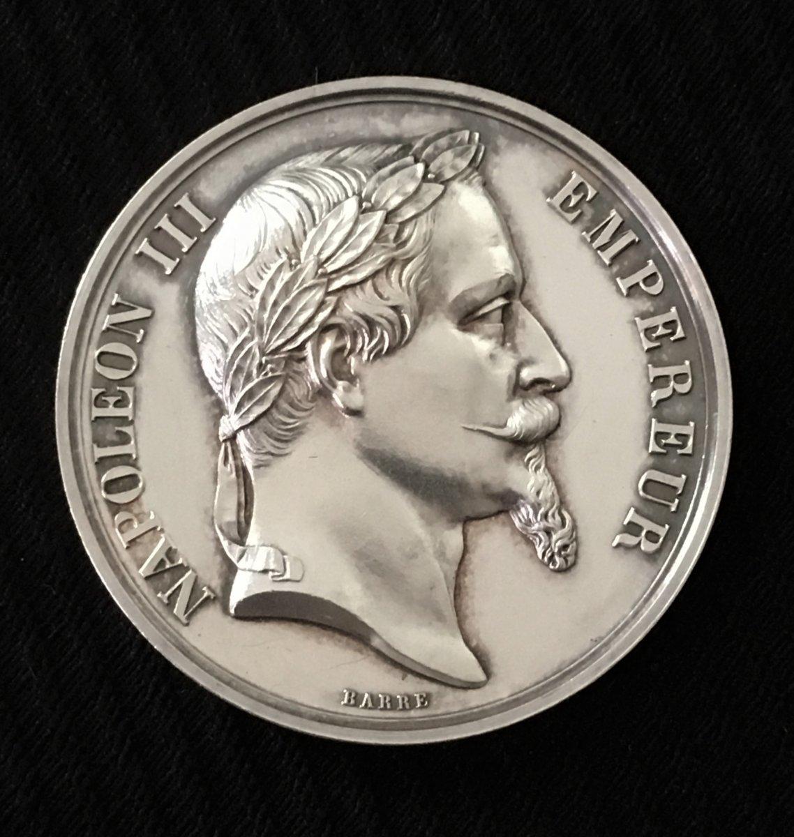 Médaille Argent Napoléon III Lycée Louis Le Grand 1865
