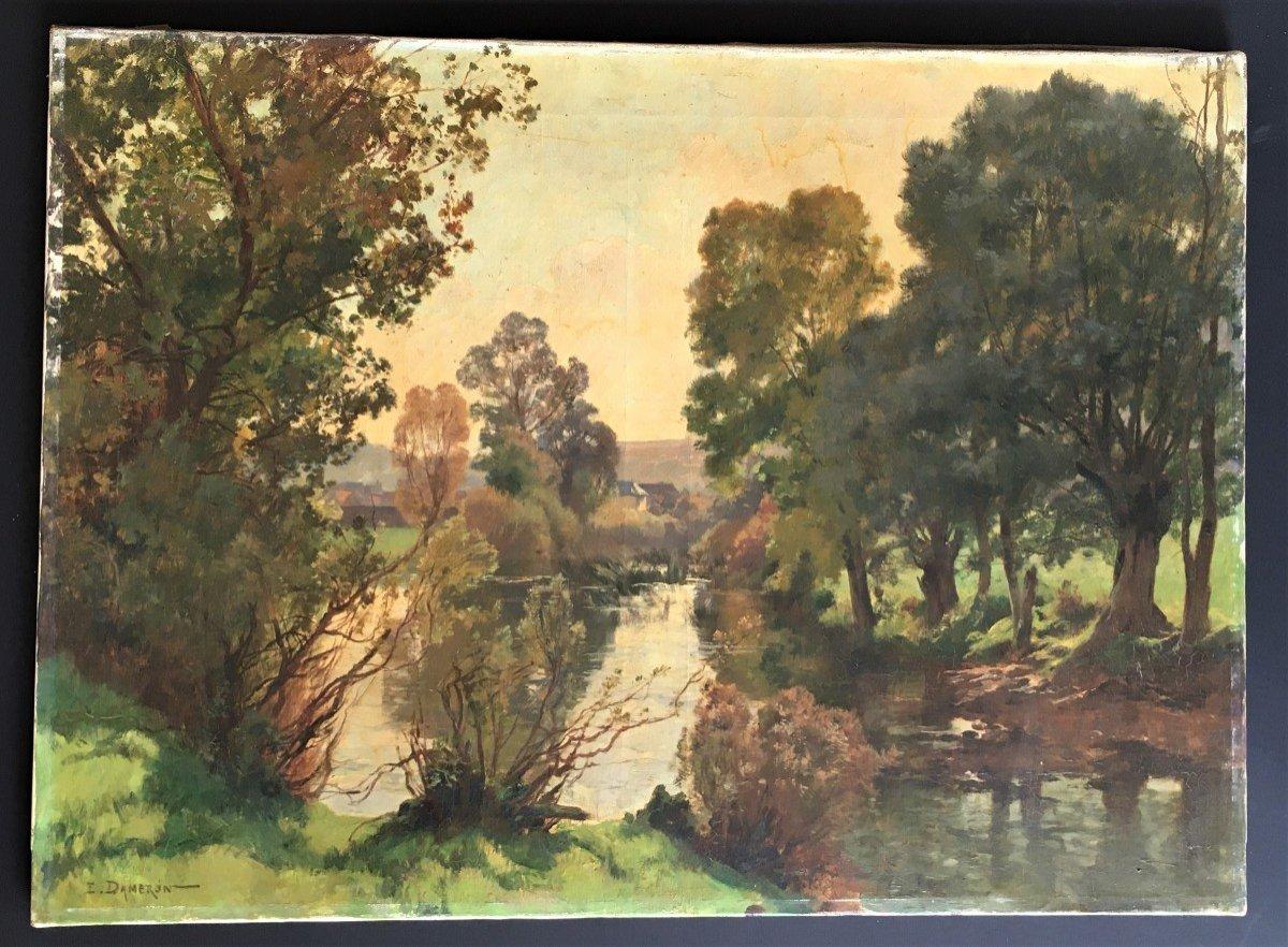 Emile Charles Dameron 1848/1908 Landscape With A Pond