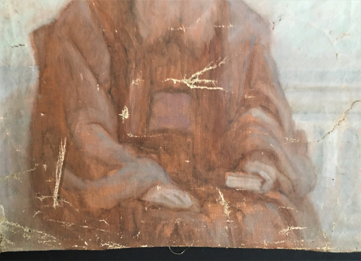 Orientalism Sketch Portrait Of A Wise Old Man  From The 19th-photo-1