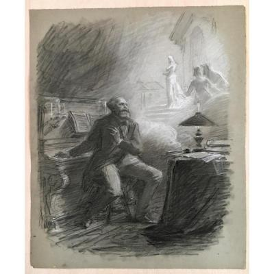 Portrait Of Charles Gounod Symbolist Drawing Anonymous From The 19th