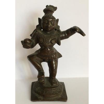 Shiva Dansant En Bronze Inde Fin 18 ème
