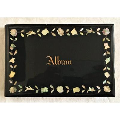 Album Amicorum Virgin Napoleon III Lacquer And Mother Of Pearl