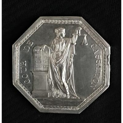 Court Of Cassation Medal 1835 In Silver
