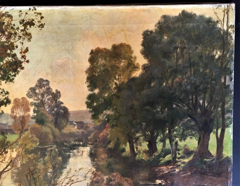 Emile Charles Dameron 1848/1908 Landscape With A Pond-photo-3