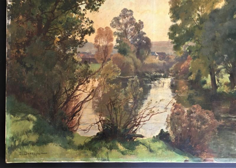 Emile Charles Dameron 1848/1908 Landscape With A Pond-photo-4
