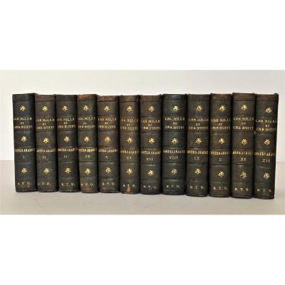 Les Mille Et Une Nuits, Lugan Paris 1826 Arbouys Relieur, 2ème édition Mignonne
