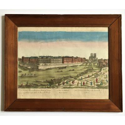Optical View Paris Ile St Louis In The 18th Century