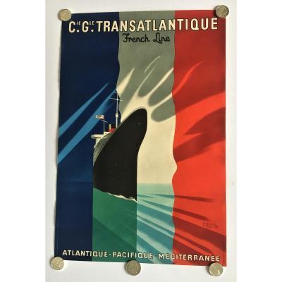 Paul Colin Affiche Compagnie Gle Transatlantique