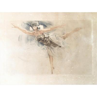 Alméry Lobel-riche 1877/1950 Danseuse Russe Aquatinte Vers 1925