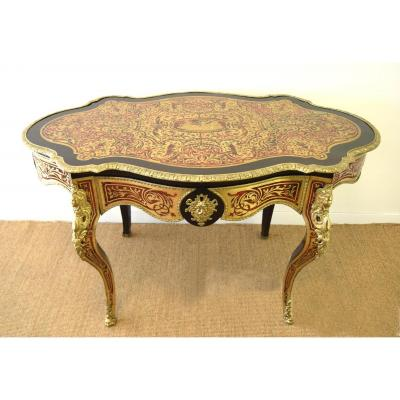 Violin Table Boulle Marquetry