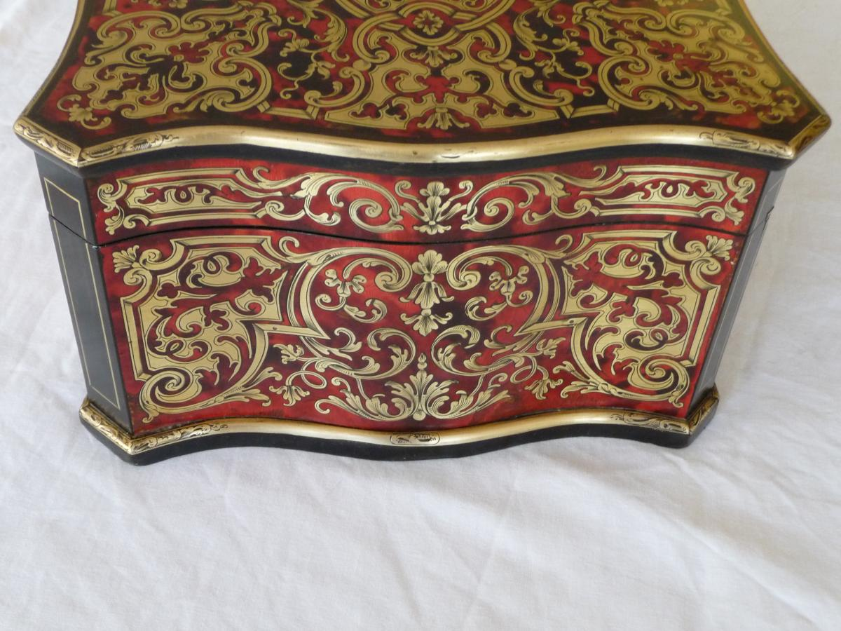 Box Marquetry Boulle Signed Tahan