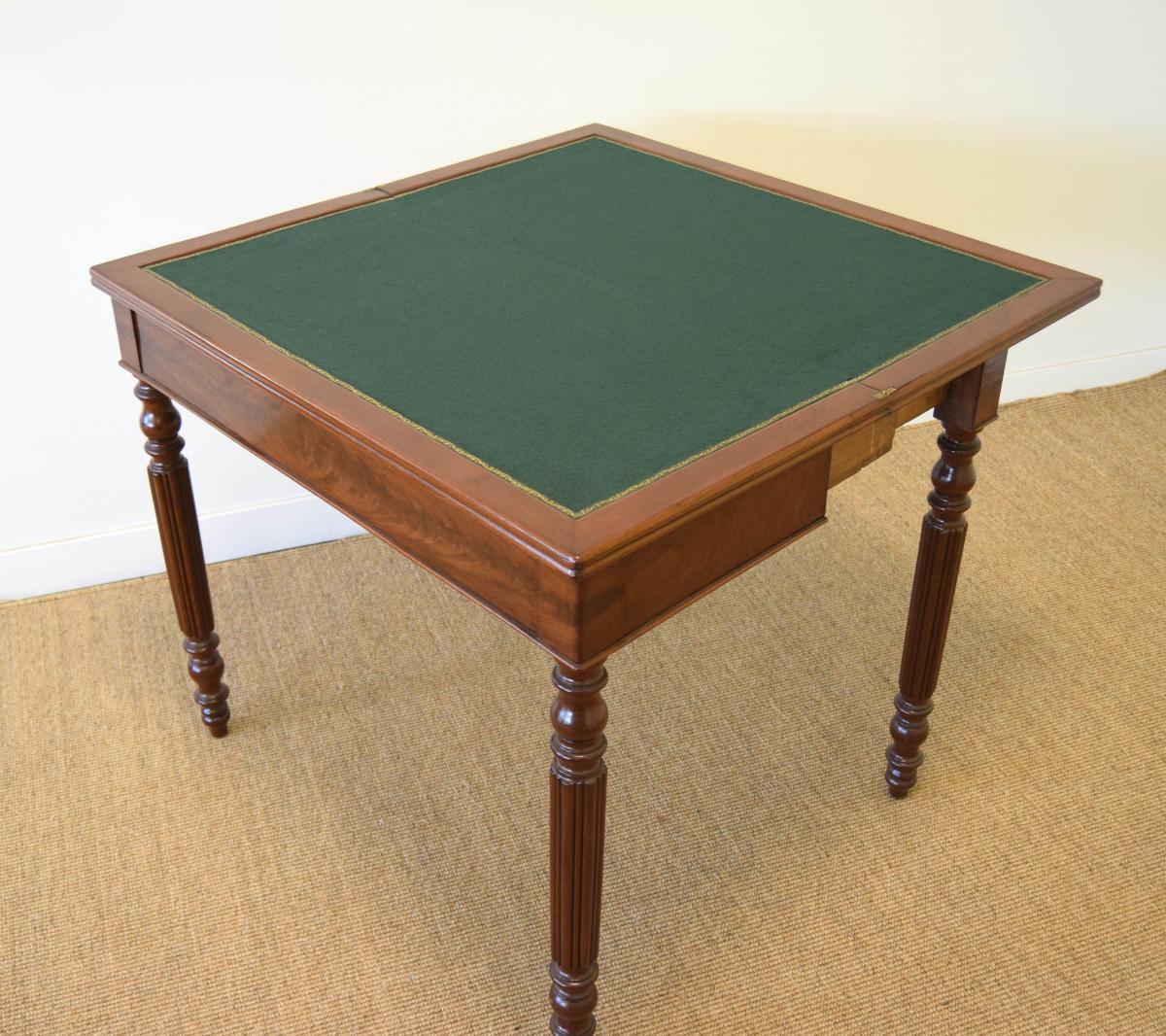 Table à Jeux En Acajou-photo-3