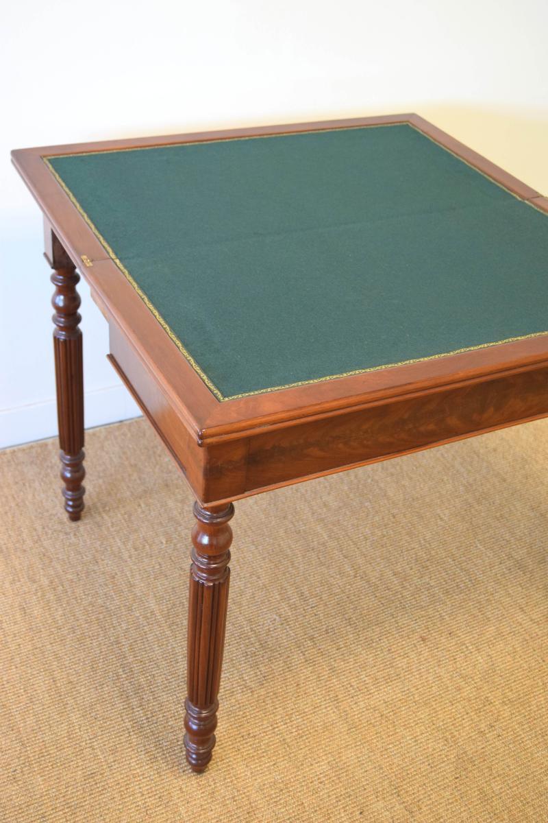 Table à Jeux En Acajou-photo-1