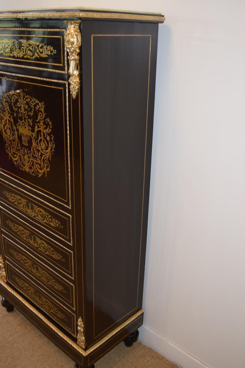 Secrétaire En Marqueterie Napoleon III-photo-3