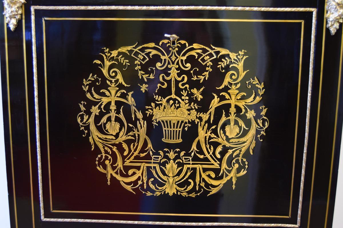 Secrétaire En Marqueterie Napoleon III-photo-1