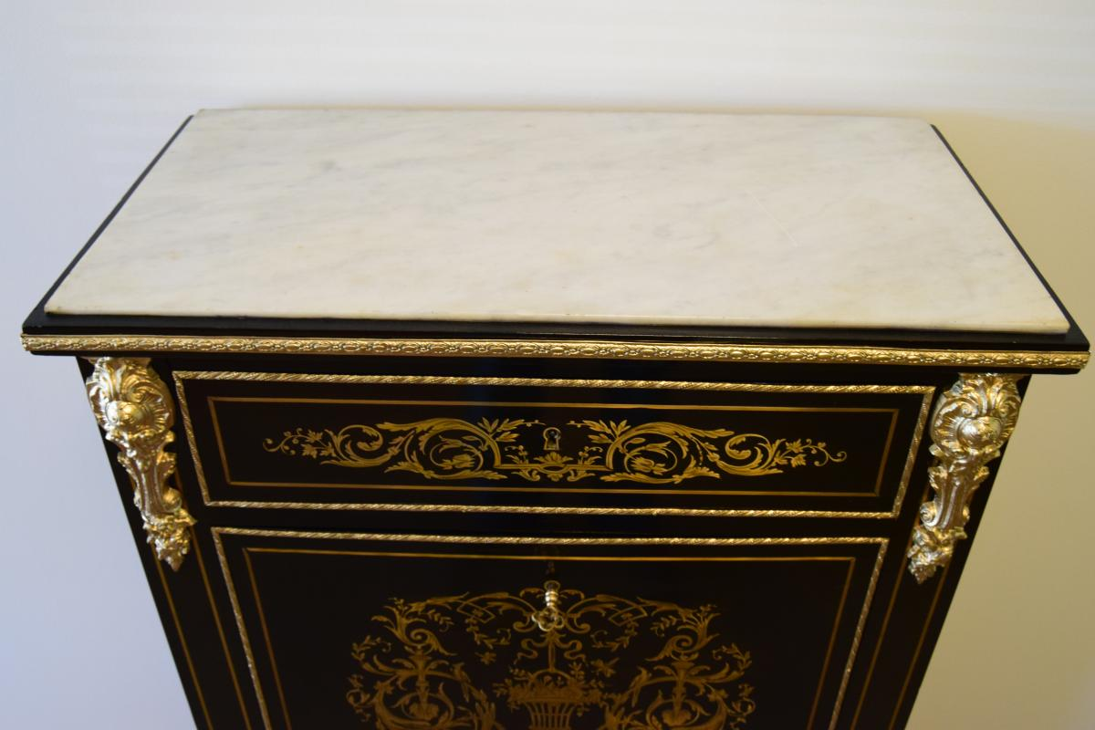 Secrétaire En Marqueterie Napoleon III-photo-2