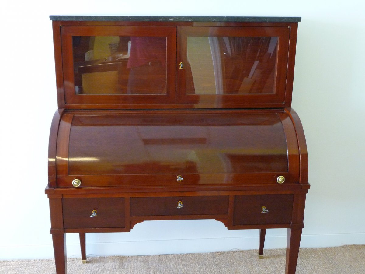 Office Cylinder Mahogany Louis XVI