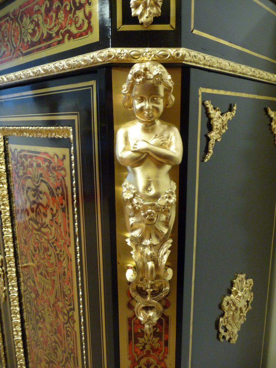 Boulle Support Cabinet Two Doors-photo-1