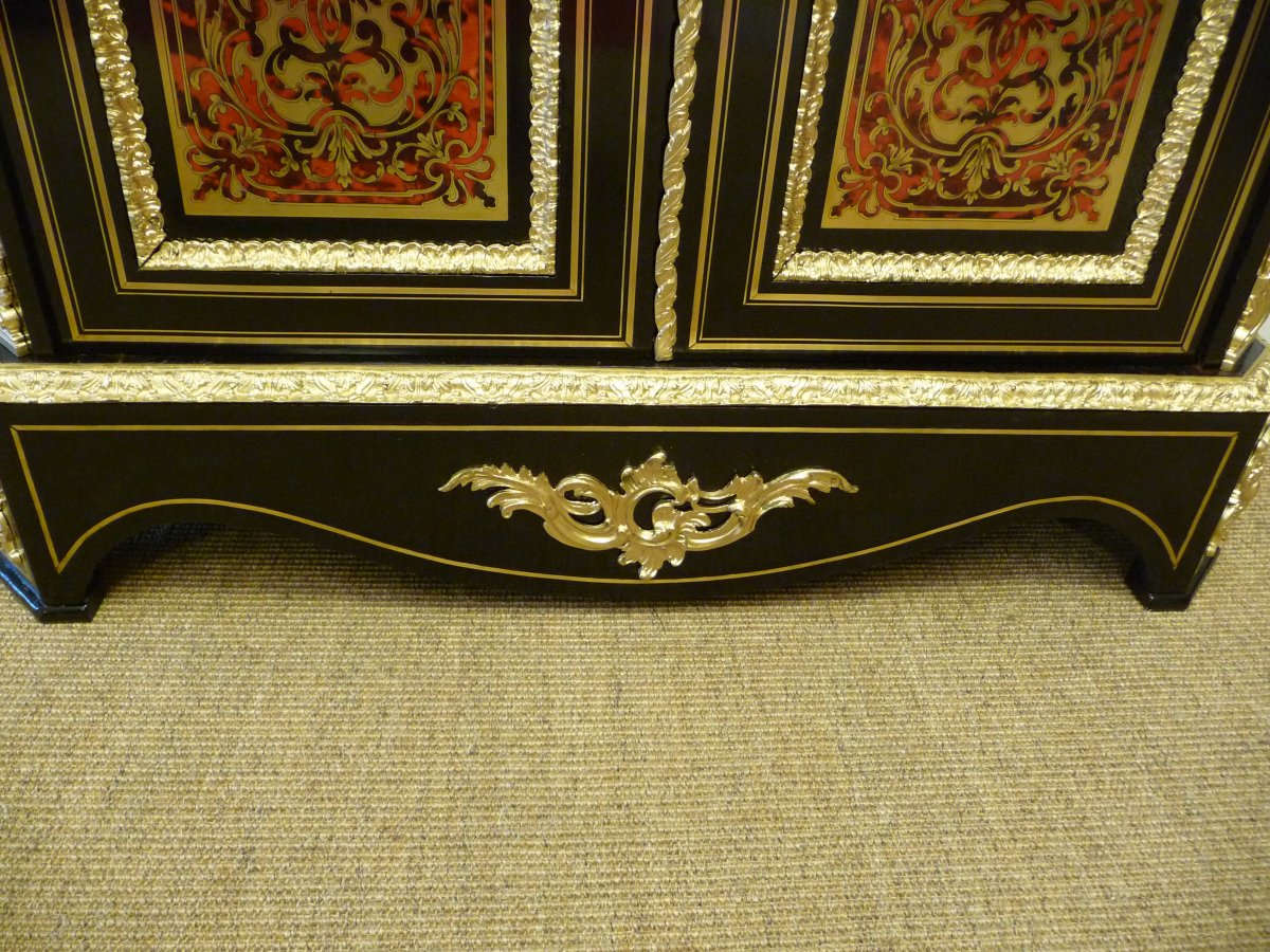Boulle Support Cabinet Two Doors-photo-2