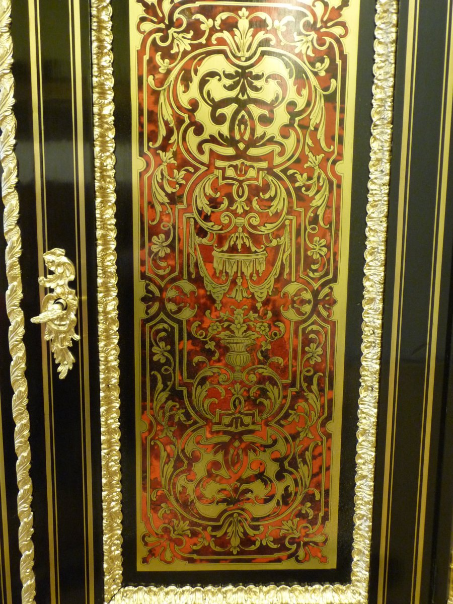 Boulle Support Cabinet Two Doors-photo-4