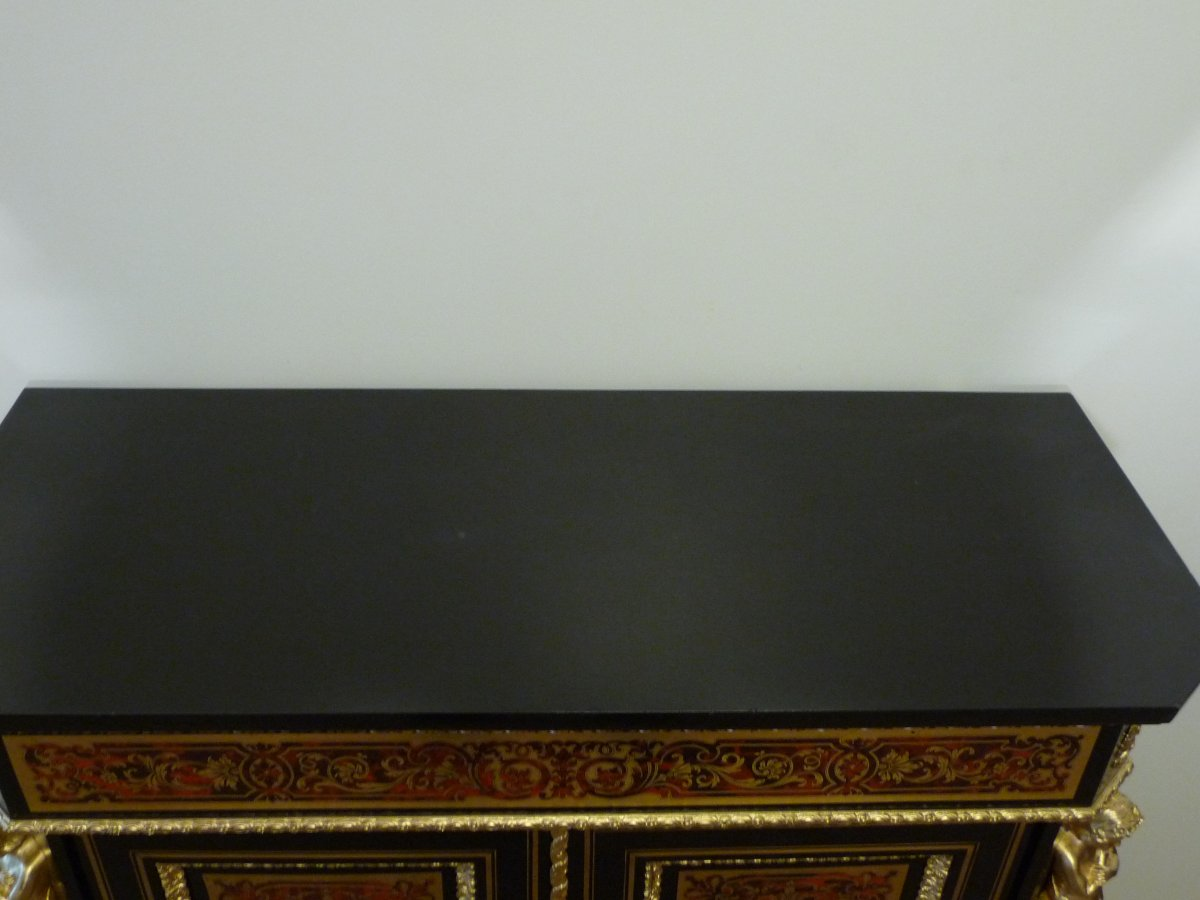 Boulle Support Cabinet Two Doors-photo-6