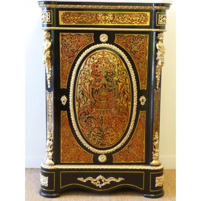 Support Furniture Boulle Marquetry