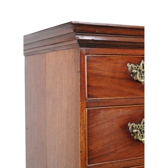 18c George III Period Mahogany Chest On Chest-photo-2