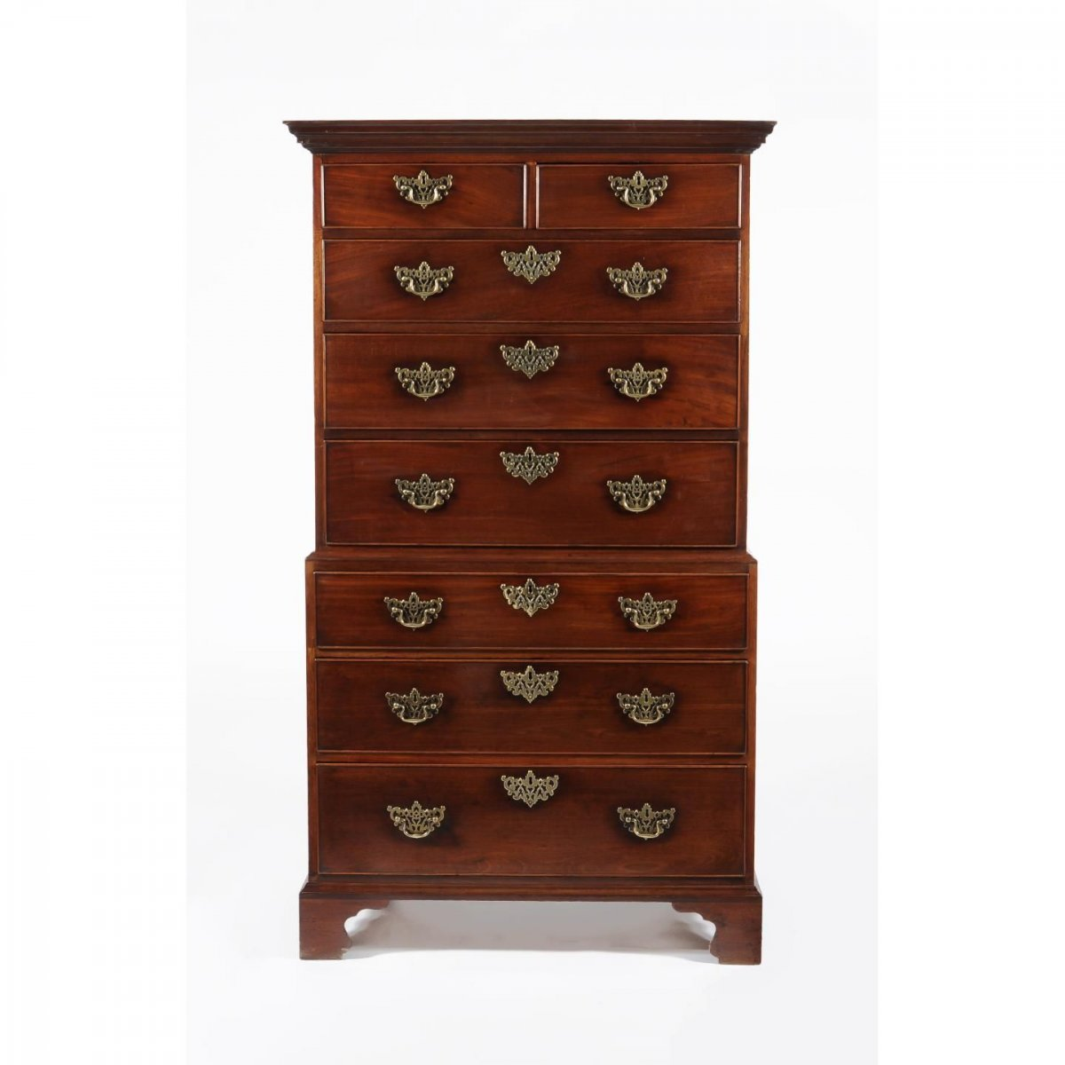 18c George III Period Mahogany Chest On Chest