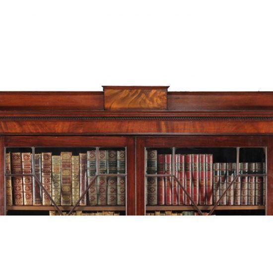 18C Importante Bibliothèque en Acajou d'époque George III -photo-2