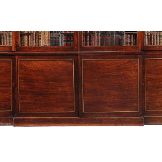 18C Importante Bibliothèque en Acajou d'époque George III -photo-3