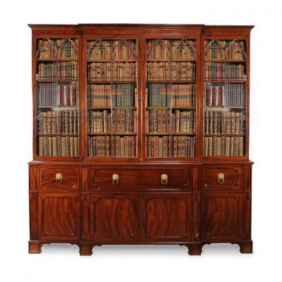 19C  Bibliothèque Secrétaire en Acajou d'époque George IV