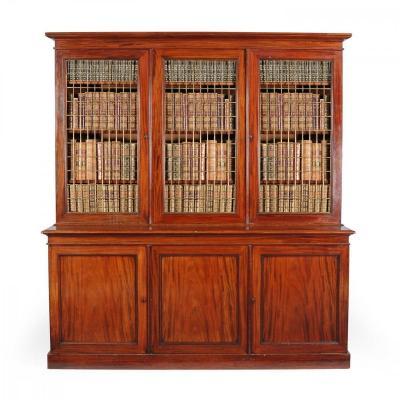 19C  Bibliothèque en Acajou d'époque William IV