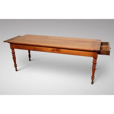 19c French Fruitwood Farmhouse Dining Table