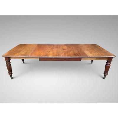 19c Quality Mahogany Pull-out Extending Dining Table