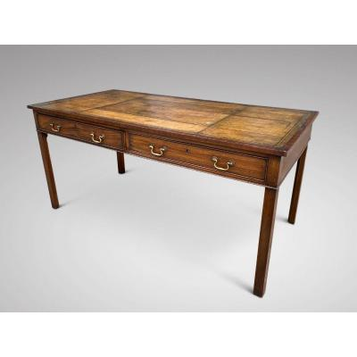 19c Mahogany Partner's Writing Table Signed By Gillows