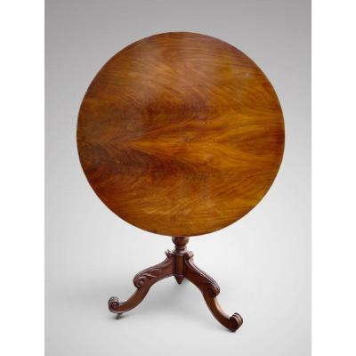 19c Large Mahogany Tripod Table