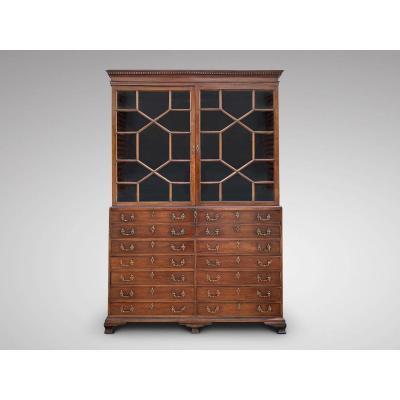 18C Superbe Bibliothèque de Secrétaire en Acajou d'époque George III
