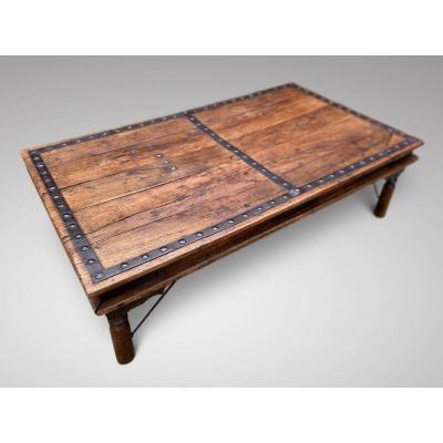 Large Antique Indian Coffee Table