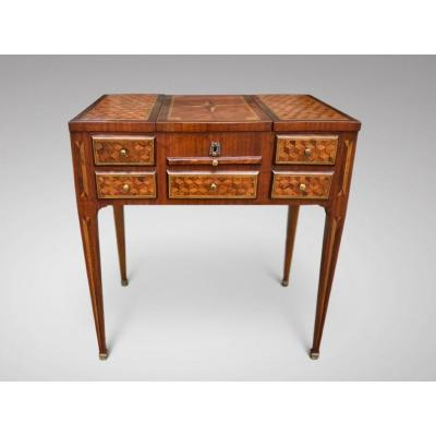 18c Louis XVI Marquetry Dressing Table