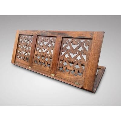 19c Rosewood Table Top Bookstand