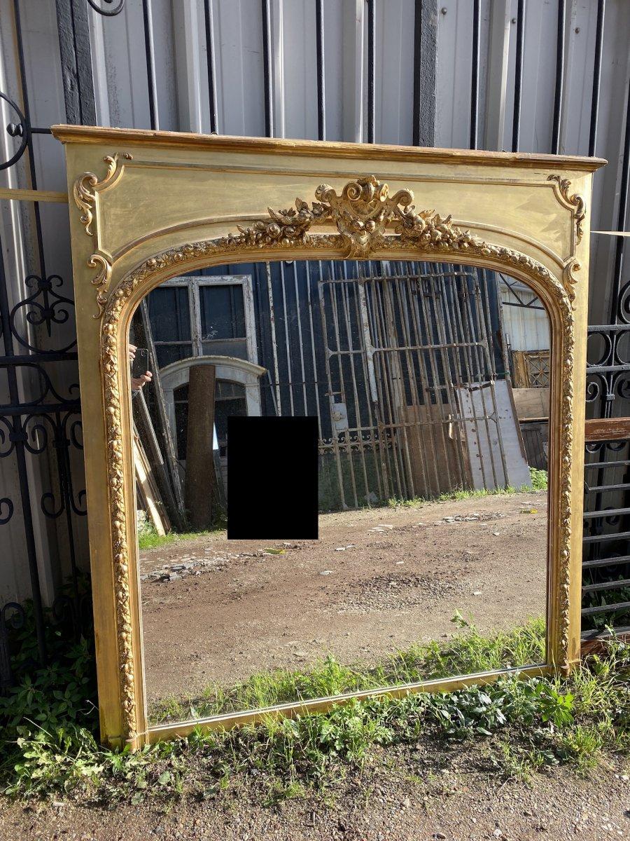 Miroir/Trumeau Doré Napoléon III